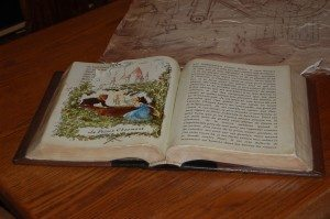 Belle's book (remember the pages the goat ate)