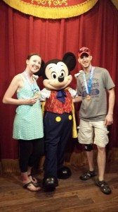 Celebrating with Mickey