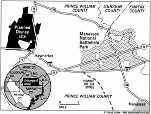 Site of the planned, but never built, Disney's America Resort