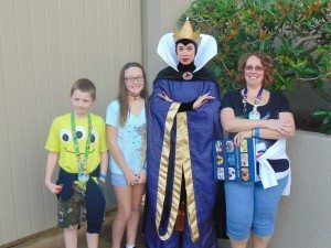 Gilbert Family with the Evil Queen