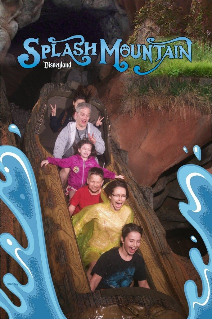 Hamming it up on Splash Mountain