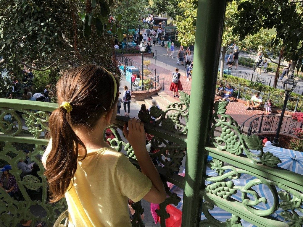 Looking out over New Orleans Square from Club 33