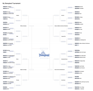 My Disneyland Full Bracket