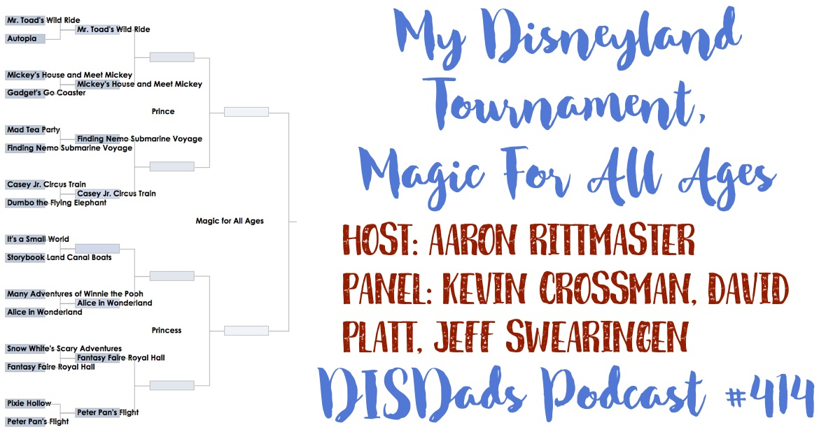 My Disneyland Tournament, Magic For All Ages Region, Round 1