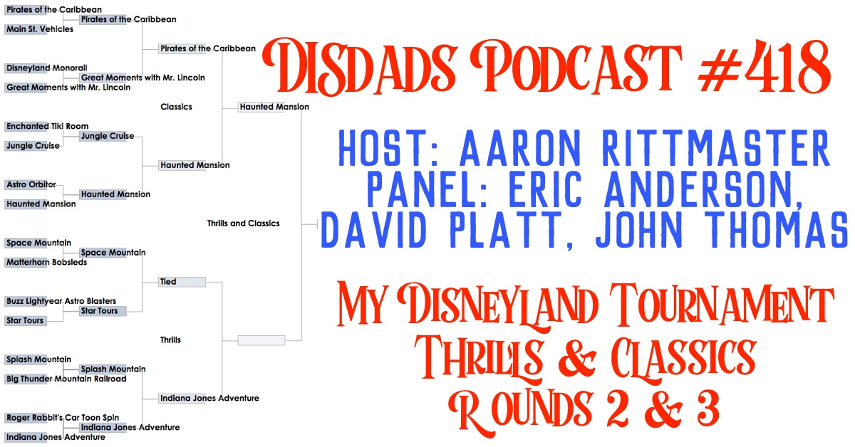 My Disneyland Tournament, Thrills & Classics, Rounds 2 & 3
