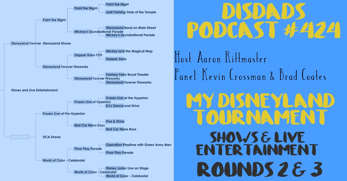Episode 424 - My Disneyland, Shows & Live Entertainment, Rounds 2 & 3