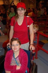 In line at Toy Story Midway Mania