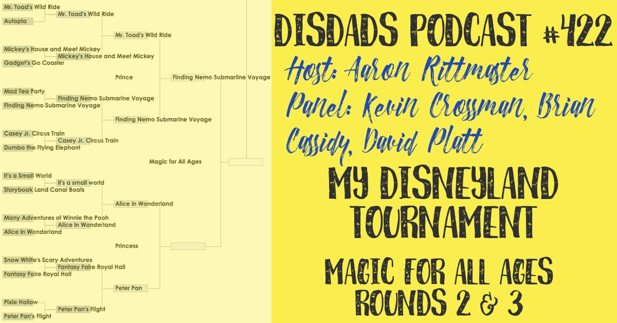 DISDads Podcast Episode 422: My Disneyland Tournament, Magic for All Ages, Rounds 2 and 3