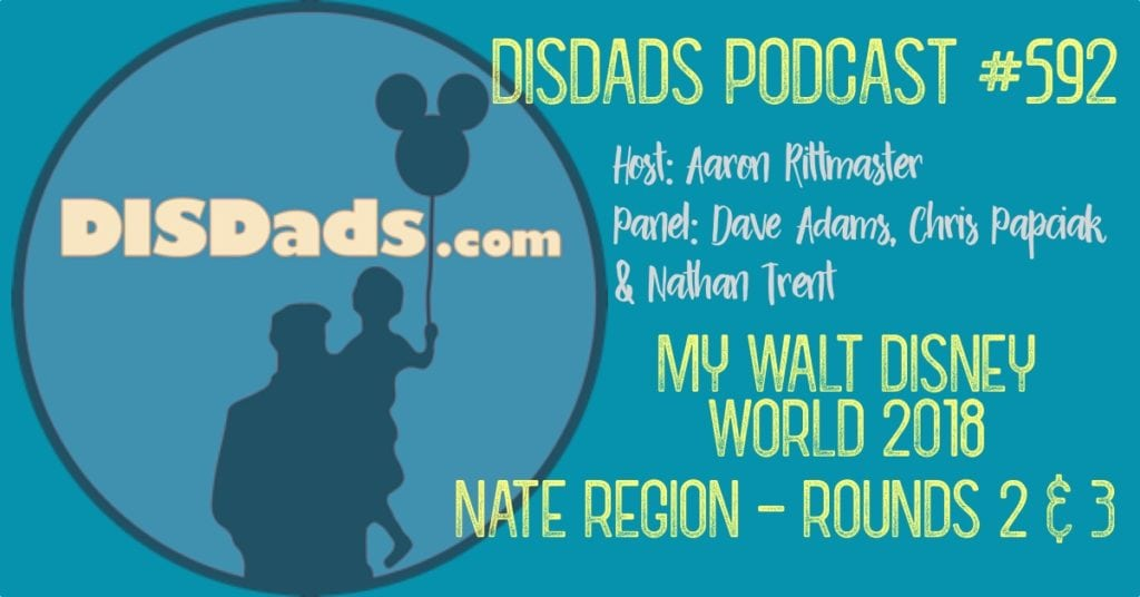 My Walt Disney World 2018: Nate Region - Rounds 2 & 3 with host Aaron Rittmaster and panelists Dave Adams, Chris Papciak, and Nathan Trent